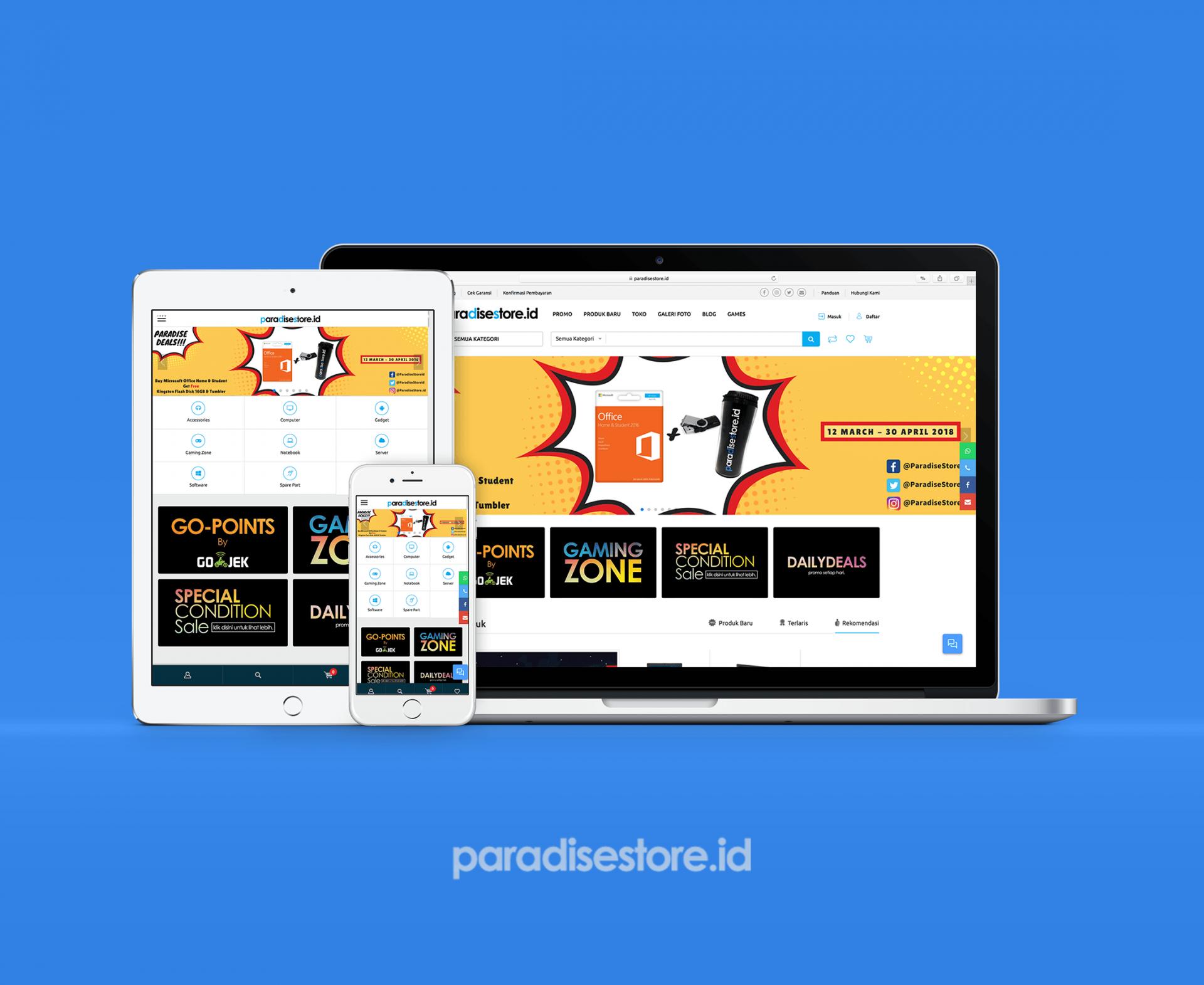 Paradise Store – ECommerce Development