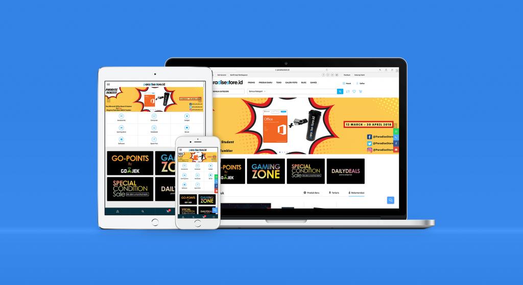Paradise Store ECommerce Web